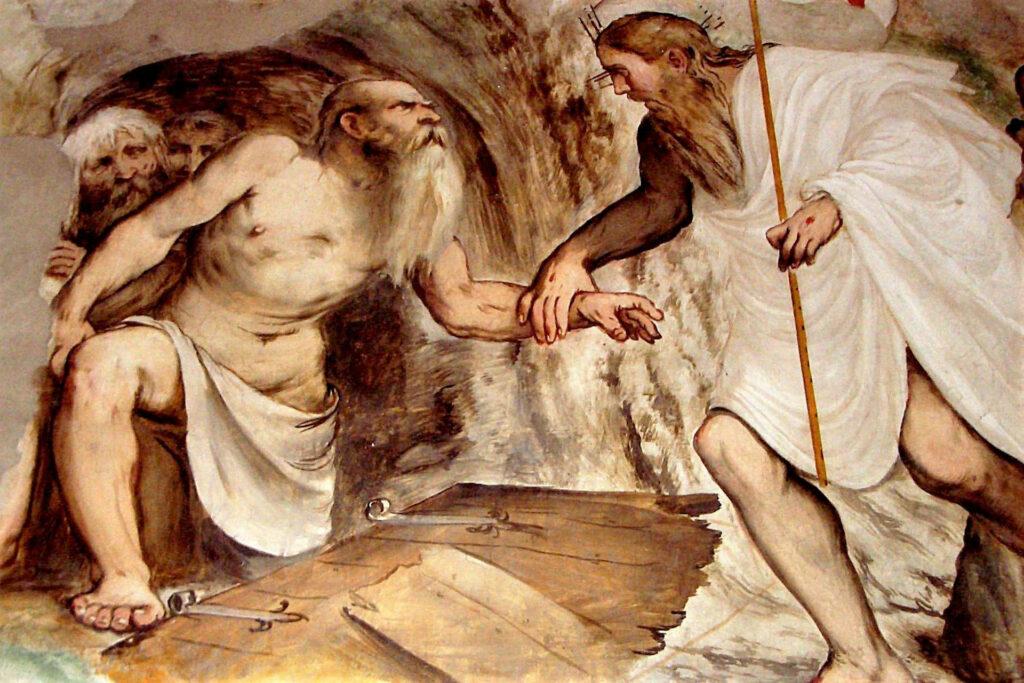 Affresco di Romanino con la Discesa al Limbo