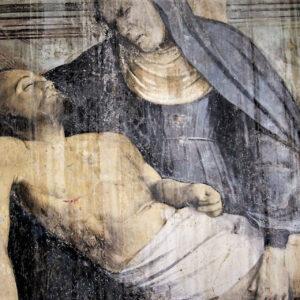 Affresco della pietà Pieve Mitria a Nave - Brescia