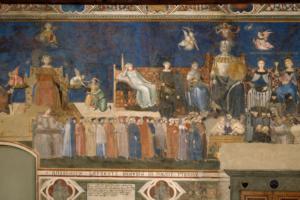 A. Lorenzetti Allegoria del Buon Governo Corso online - Dante e l'arte figurativa