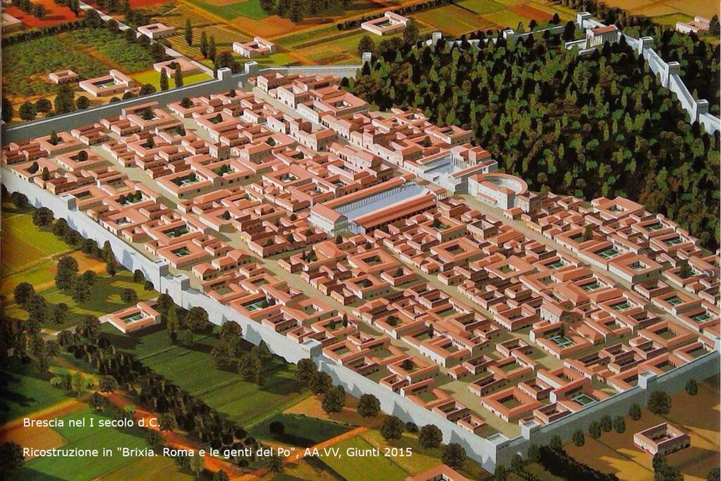 Ricostruzione di Brescia romana