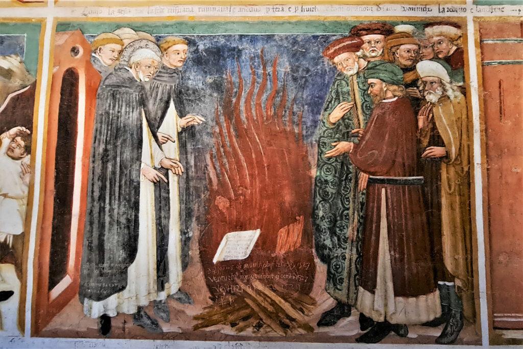 Affresco nella cappella di San Domenico