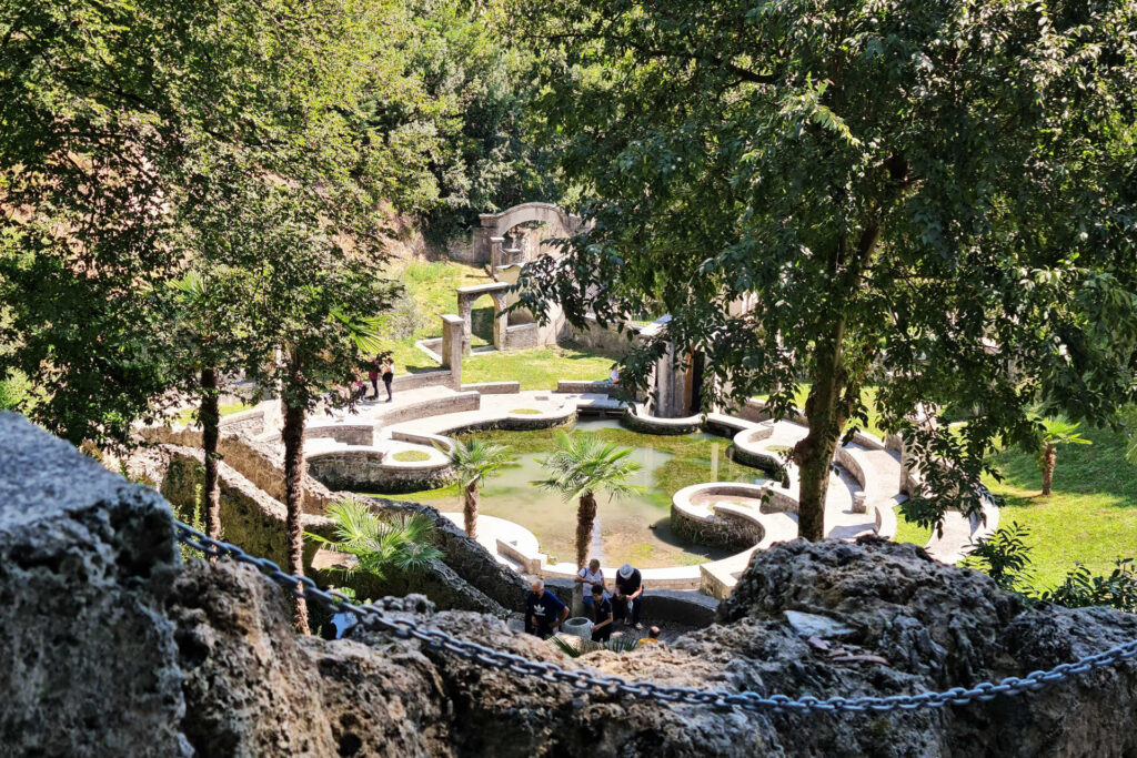 Laghetto delle danze nel Parco del Vittoriale di Gabriele D'Annunzio