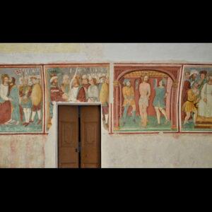 Affreschi della parete destra della Disciplina di San Cristoforo a Mompiano, Brescia